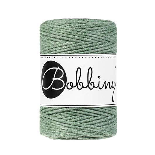 These beautiful new additions to the Bobbiny range are perfect for your mini macrame projects, earrings, weavings or any other fibre art.  This super soft cord knots beautifully and makes a wonderful fringe.  Premium Macrame Cord 1.5mm  Length: 108 yards (100m)  Weight: 160gms  Single Twist  100% recycled cotton  28 Fibres