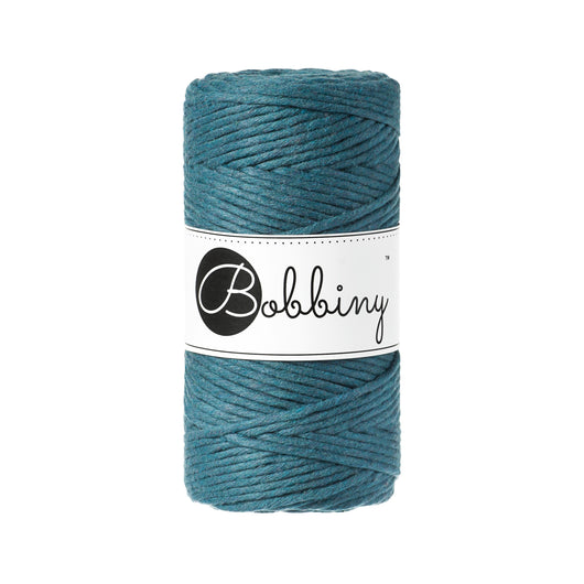 Bobbiny Single Twist Macrame Cord - Premium 3mm - Peacock Blue