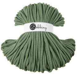 Where can I find Bobbiny Braided Cords Bobbiny Jumbo 9mm - 100m Eucalyptus? These gorgeous Bobbiny Ropes are made in Poland from 100% recycled cottons and are non toxic and certified safe for children. 9mm Diameter Length 100m Recommended for use with 14-16mm crochet hooks or knitting needles. Perfect for use with Macrame, Crochet or Knitting.