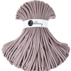 These gorgeous Bobbiny Ropes are made in Poland from 100% recycled cottons and are non toxic and certified safe for children.  9mm Diameter  Length 100m  Recommended for use with 14-16mm crochet hooks or knitting needles or above.  Perfect for use with Macrame, Crochet or Knitting