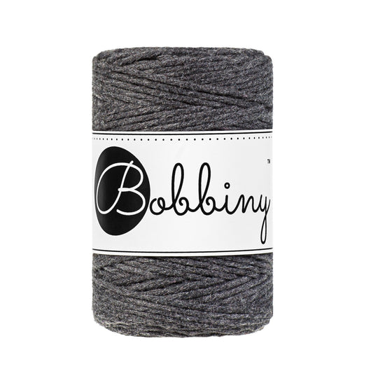 Bobbiny Single Twist Macrame Cord - Baby 1.5mm - Charcoal