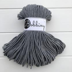 These beautiful Bobbiny ropes are made in Poland, and are non-toxic and certified safe for children, meeting certified worldwide textile standards.  3mm Diameter  100 metres Length  Recommended for use with 8-10mm crochet or knitting needles  Cotton inner and outer layers