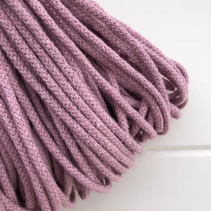 Where can I find Bobbiny Braided Cords Bobbiny Junior 3mm - 100m Dusky Pink? These beautiful Bobbiny ropes are made in Poland, and are non-toxic and certified safe for children, meeting certified worldwide textile standards.  3mm Diameter  100 metres Length  Recommended for use with 8-10mm crochet or knitting needles  Cotton inner and outer layers, perfect for use with Macrame, Crochet or Knitting