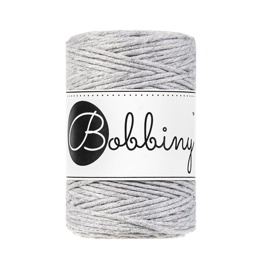 Bobbiny Single Twist Macrame Cord - Baby 1.5mm - Light Grey