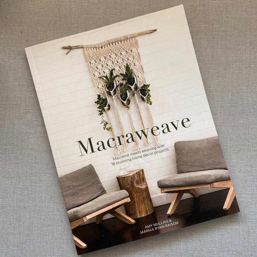 f you are a lover of MACRAME FOR BEGINNERS AND BEYOND you will be sure to love this new fibre art book.  Combining both macrame and weaving, this book has 18 stunning projects including woven wall hangings, plant hangers and cushions as well accessories.  Created by Amy & Marnia from EdenEve macrame, this book is a comprehensive guide to creating projects that combine both crafts.   Paperback  Language - English  128pp  Authors : Amy Mullins & Marnia Ryan-Raison  Contains 18 projects   27cms x 22cms  RRP $4