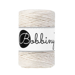 Bobbiny Single Twist Macrame Cord - Baby 1.5mm - Natural