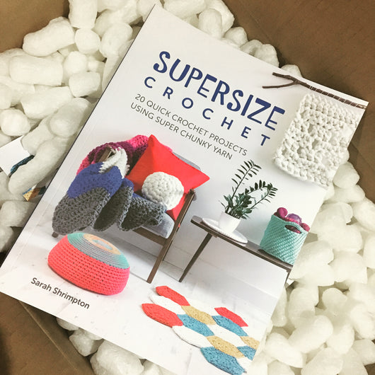 'Super Size Crochet' includes 20 projects ranging from luxurious blankets to slouchy beanies. All using super chunky yarn, they work up super fast!  Patterns written in UK crochet terminology.  Paperback  Language - English  124pp  Author: Sarah Shrimpton  RRP $34.99