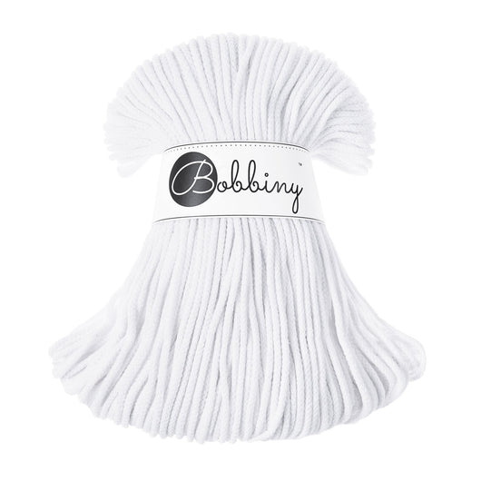 These beautiful Bobbiny cords are made in Poland from 100% recycled cottons and are non-toxic, certified safe for children and meet certified worldwide textile standards.  3mm Diameter  100 metres Length  Recommended for use with 8-10mm crochet or knitting needles  Cotton inner and outer layers
