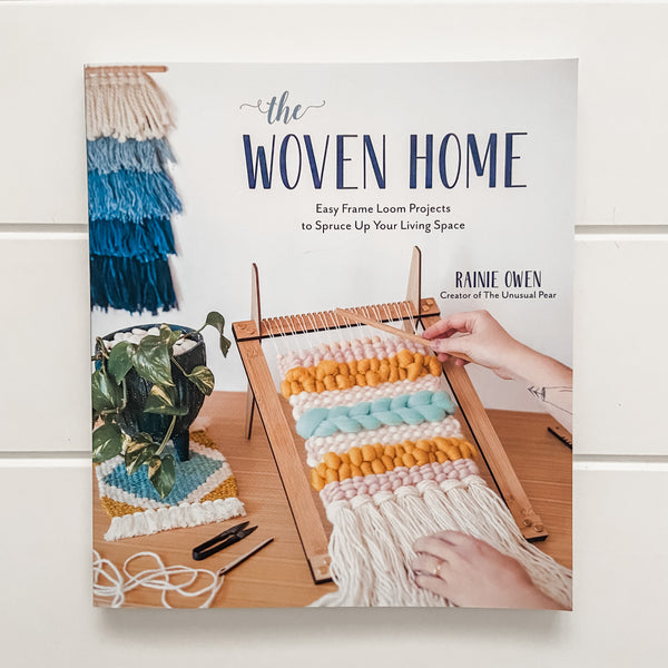If weaving is your thing, or you have just ventured into the world of warps, wefts and looms then this beautiful book written by Australian Fibre enthusiast, Rainie Owen is just for you!  Rainie shares her tips and tricks to help you on your way if you are a beginner or to challenge you if you are a little more advanced.  With 20 projects to choose from, the possibilities are varied, and the beautiful photos will get the creative juices flowing!  Rainie explores various techniques such as the Tabby Weave an