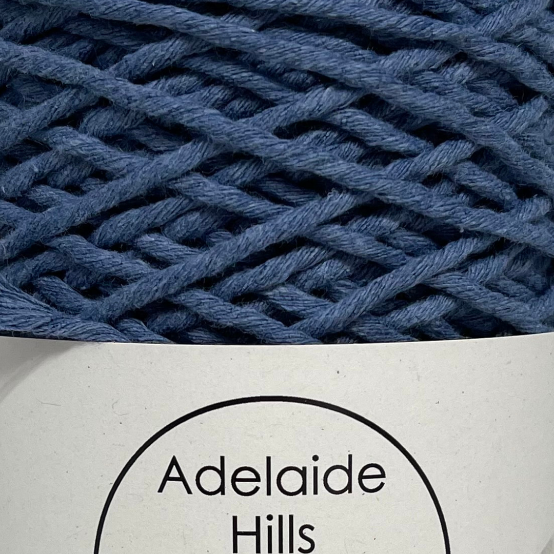 Where can I find Big Cotton Denim? This cotton blend yarn can be put to use for crochet, weaving, knitting or even mini macrame projects. +/- 180 metres in length and consisting of 80% cotton fibres. 12/14 ply, Super Bulky, perfect for use with 5mm - 10mm hooks.