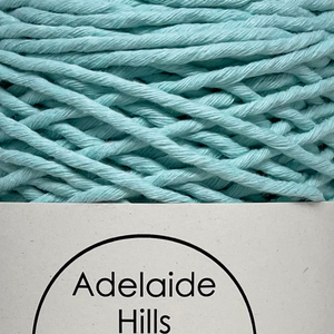 Where can I find Big Cotton Mint? This cotton blend yarn can be put to use for crochet, weaving, knitting or even mini macrame projects, such as earrings. It is a single twist cotton made using 100%  recycled fibres.  Length: 180 metres +/-  Weight: 250gms +/-  12/14 ply, Super Bulky  Hook Size : 5-10mm hooks  Available in a huge variety of colours