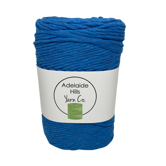 This cotton blend yarn can be put to use for crochet, weaving, knitting or even mini macrame projects. +/- 180 metres in length and consisting of 80% cotton fibres. 12/14 ply, Super Bulky, perfect for use with 5mm - 10mm hooks.