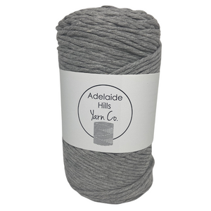 Where can I find Big Cotton BLACKS/GREYS Steel? This cotton blend yarn can be put to use for crochet, weaving, knitting or even mini macrame projects. +/- 180 metres in length and consisting of 80% cotton fibres. 12/14 ply, Super Bulky, perfect for use with 5mm - 10mm hooks.