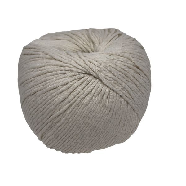 Our Little Cotton will bring your finer projects to life, such as amigurumi, face scrubbies or even mini macrame. This cotton blend is made from 100% recycled fibres.  Weight: 100gms +/-  170 metres/ approx 185 yards  Recommended 3-4mm crochet hook or knitting needles  Approx 5ply/sport weight   Available in a variety of colours