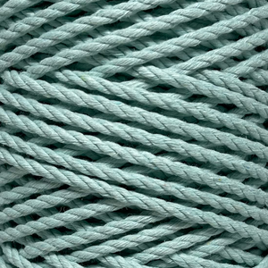 These 100% smooth cotton ropes are a fantastic addition to your fibre collection and are perfect for projects such as plant hangers or pieces that require that little bit of extra guts!  Ethically sourced, produced and rolled onto a recycled cone for the sustainable conscious mind and heart.  Unravel your rope to reveal a beautiful wavy fringe.  Oeko-Tex Certified  3ply/4mm/approx 500gms/approx 85m