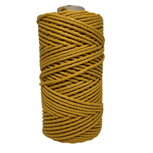 Macrame 3ply Cotton Rope 4mm - Mustard