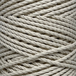 Macrame 3ply Cotton Rope 4mm - Natural