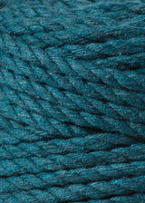 Bobbiny Macrame Rope - 3ply - 5mm - Peacock Blue