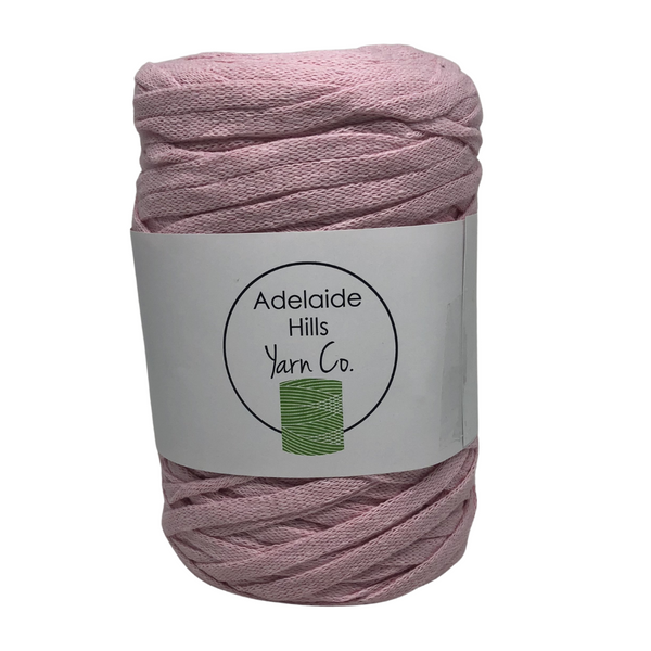 Where can I find Ribbon Yarn PINKS Blush? Our Ribbon Yarn is a beautifully soft woven tape-like fibre perfect for use with crochet, knitting, weaving or any fibre art. Made from 100% recycled fibres.   Length: 130metres +/-  Weight: 250gms +/-  For use with approx 7mm or above hooks depending on your project