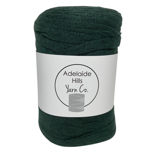 Where can I find Ribbon Yarn GREENS Lush Green? Our Ribbon Yarn is a beautifully soft woven tape-like fibre perfect for use with crochet, knitting, weaving or any fibre art. Made from 100% recycled fibres.   Length: 130metres +/-  Weight: 250gms +/-  For use with approx 7mm or above hooks depending on your project