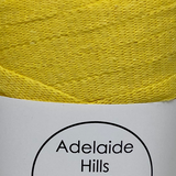 Where can I find Ribbon Yarn SUNSHINE YELLOW? Our Ribbon Yarn is a beautifully soft woven tape-like fibre perfect for use with crochet, knitting, weaving or any fibre art. Made from 100% recycled fibres.   Length: 130metres +/-  Weight: 250gms +/-  For use with approx 7mm or above hooks depending on your project