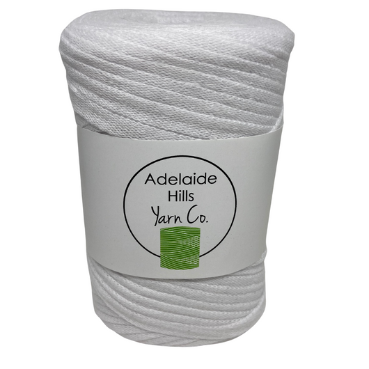 Where can I find Ribbon Yarn WHITES/NEUTRALS White? Our Ribbon Yarn is a beautifully soft woven tape-like fibre perfect for use with crochet, knitting, weaving or any fibre art. Made from 100% recycled fibres.   Length: 130metres +/-  Weight: 250gms +/-  For use with approx 7mm or above hooks depending on your project