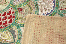 Load image into Gallery viewer, Twin/Double Kantha Bed Cover