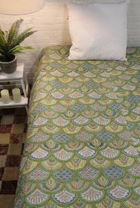 Twin/Double Kantha Bed Cover