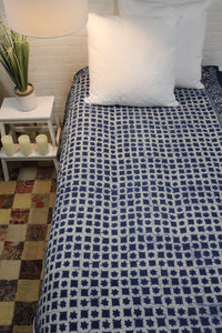 Twin/Double Indigo Bed Cover