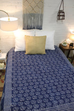Load image into Gallery viewer, Queen/King Indigo Bed Cover