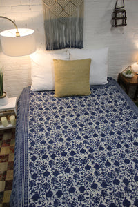 Queen/King Indigo Duvet Cover