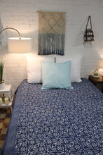 Load image into Gallery viewer, Queen/King Indigo Duvet Cover
