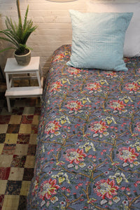 Twin/Cotton Kantha Duvet Cover