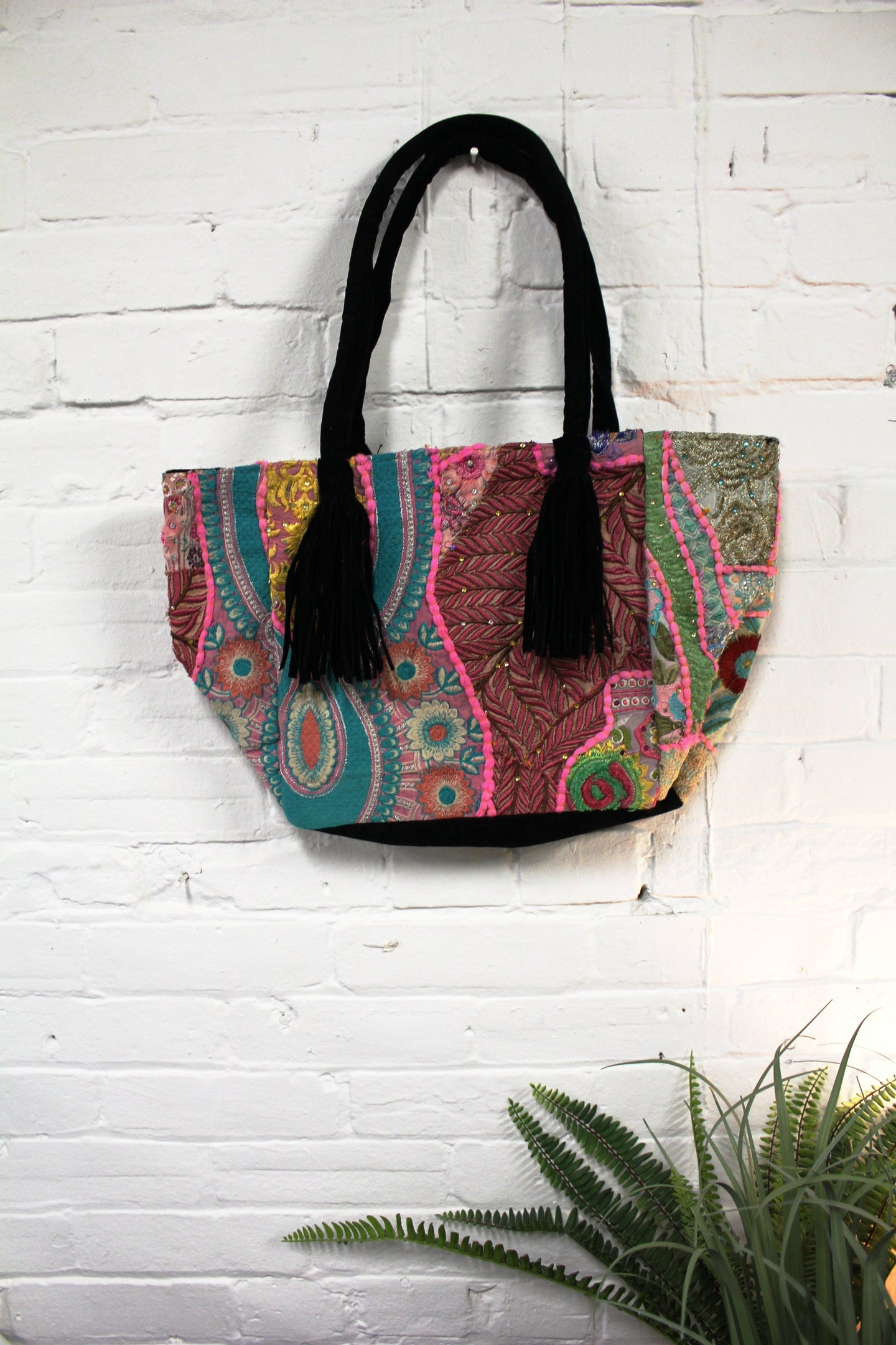 Tassel Patchwork Purse