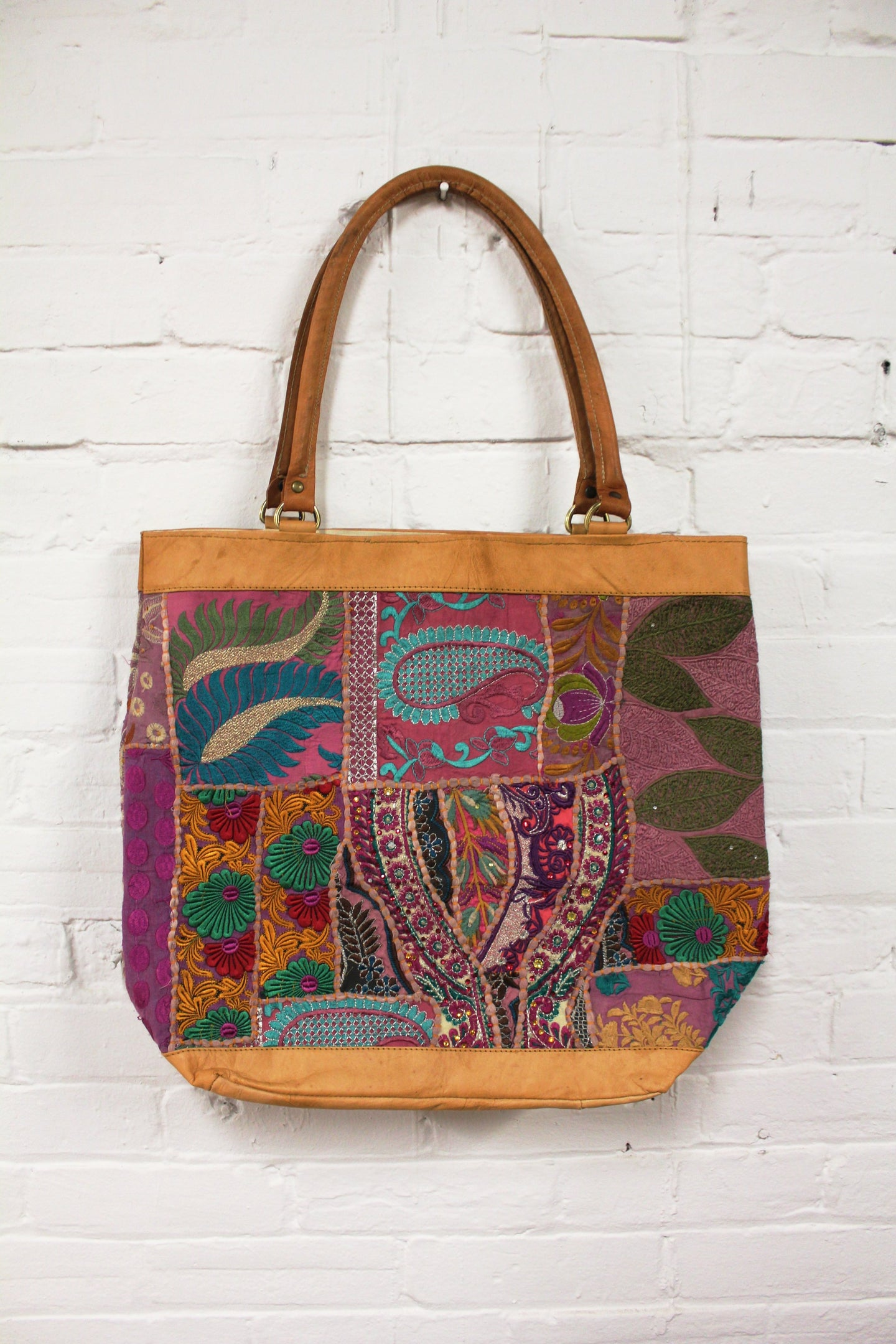 Leather Patchwork Tote