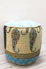 Load image into Gallery viewer, Cotton Kantha Footstool