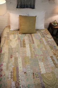 Recycled Patchwork Bedcover