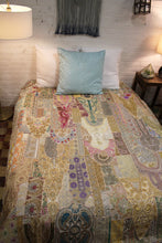 Load image into Gallery viewer, Recycled Patchwork Bedcover