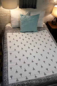 Whiteware Blockprint Duvet