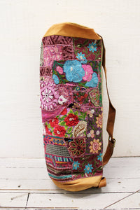 Leather Patchwork Yoga Mat Bag