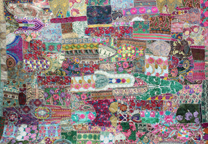 Recycled Patchwork Bedcover/ Wall Hanging