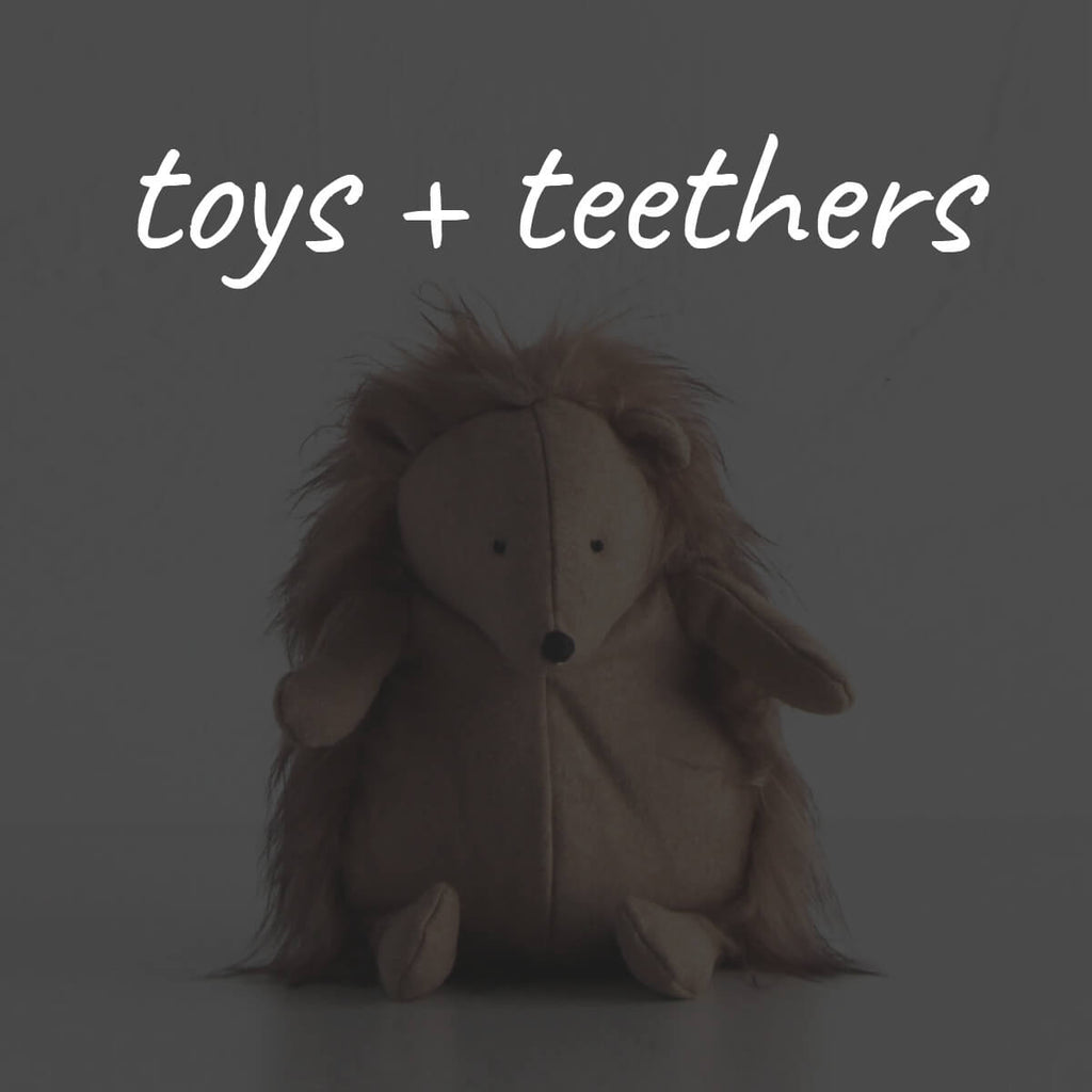 SOFT TOYS + TEETHERS