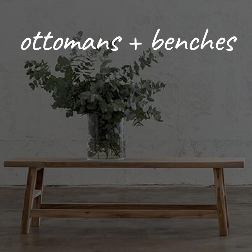 Ottomans + Benches