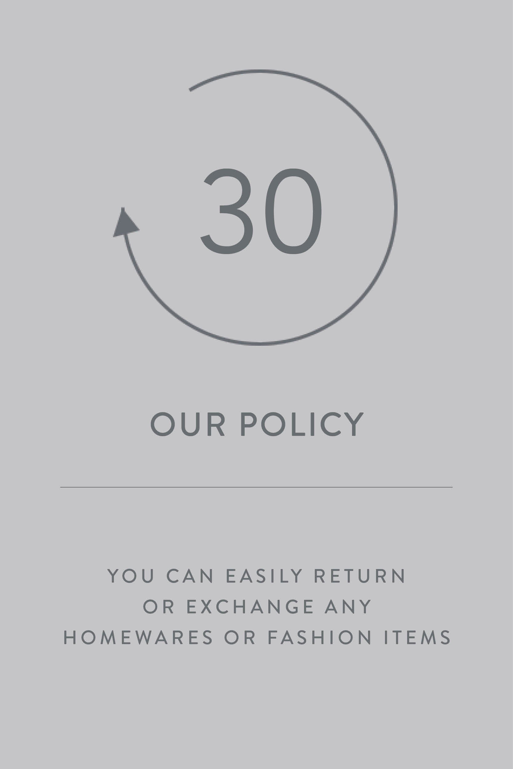 Living By Design |  Easy-Returns 30 day policy