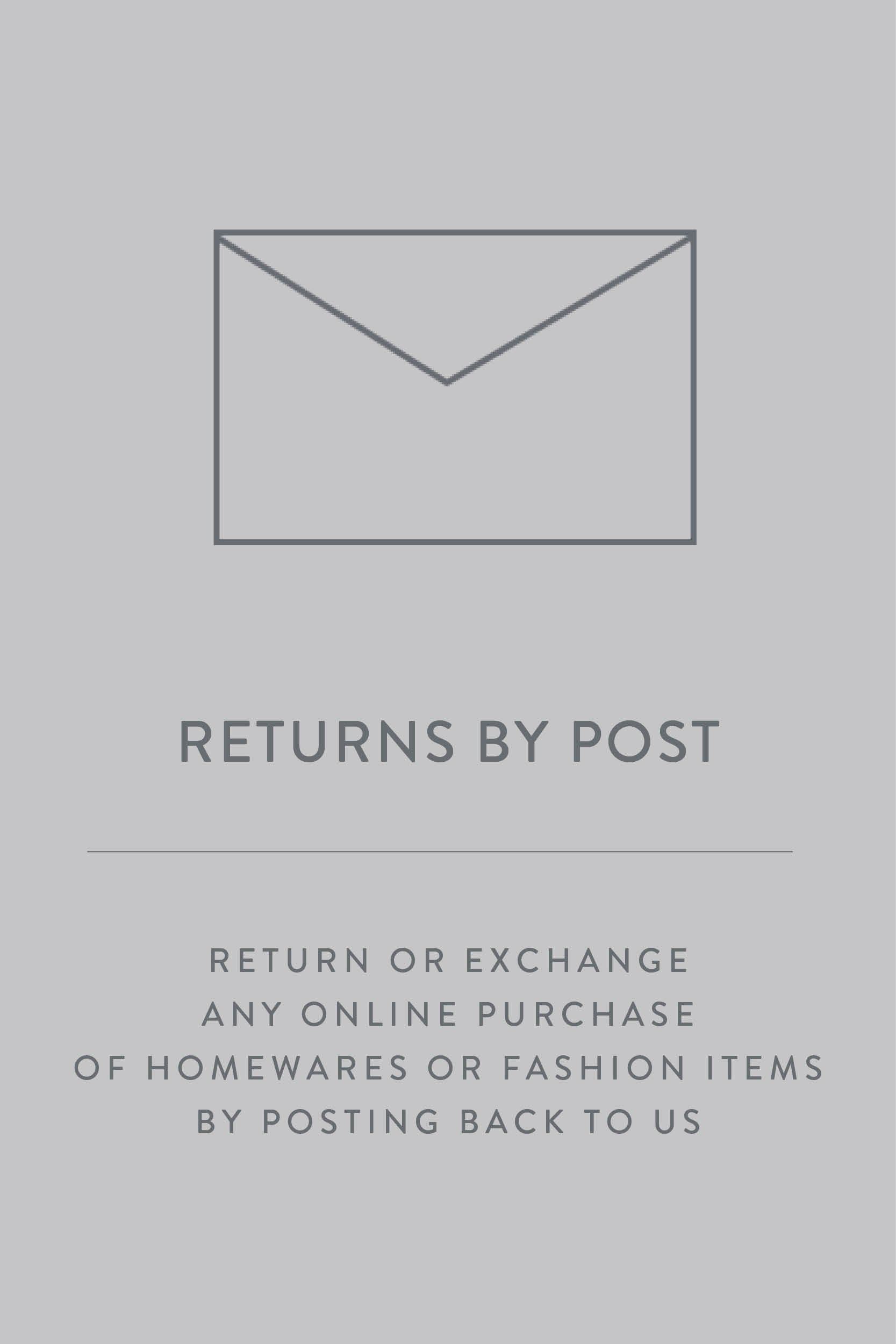Living By Design  | Returns or Exchange by posting back to us