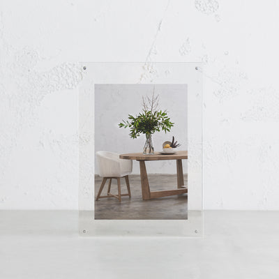 LUCID PERSPEX PHOTO FRAME SET | PACKAGE INCLUDE A5 + A4 FRAME