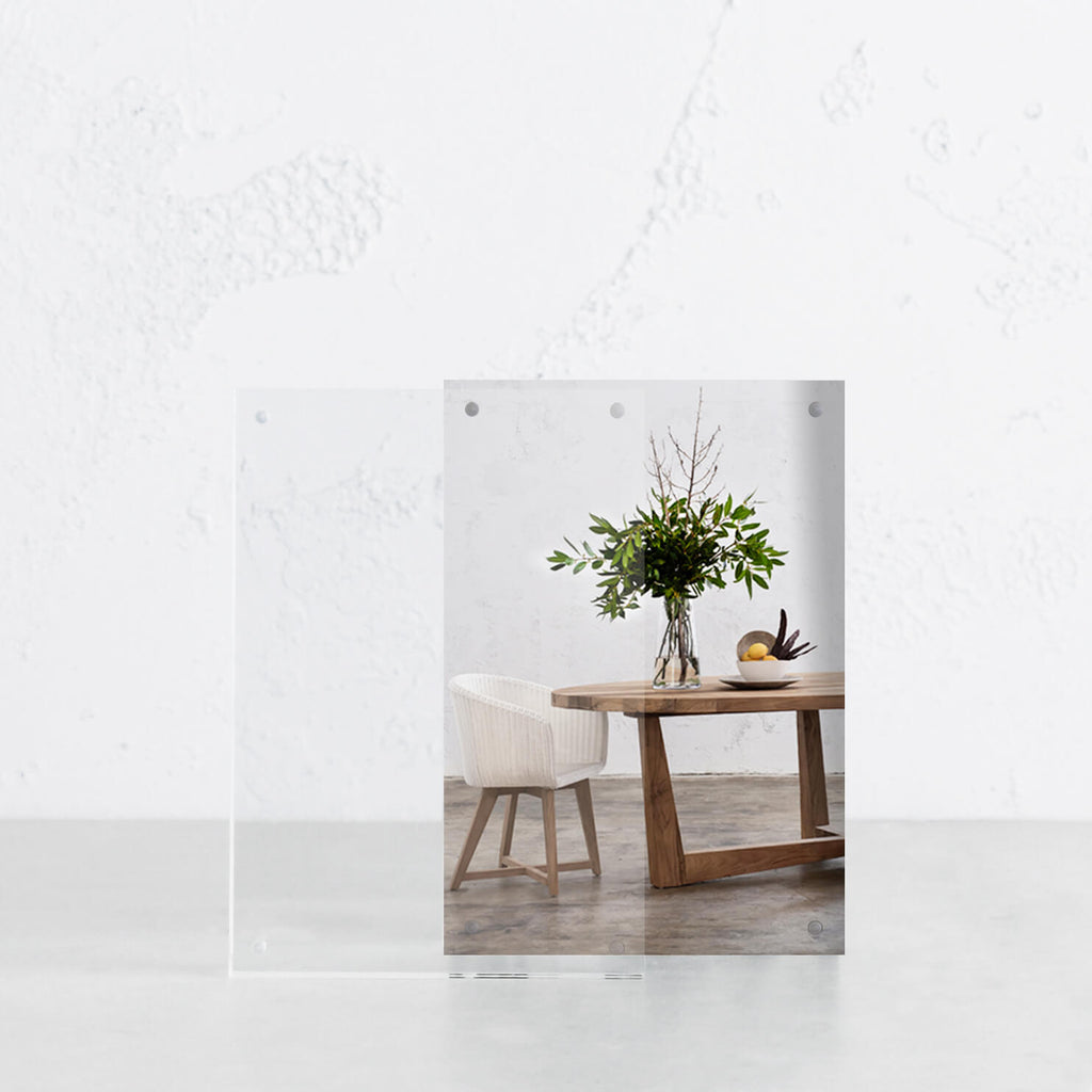 LUCID PERSPEX PHOTO FRAME SET  |  PACKAGE 2 X A5 FRAMES
