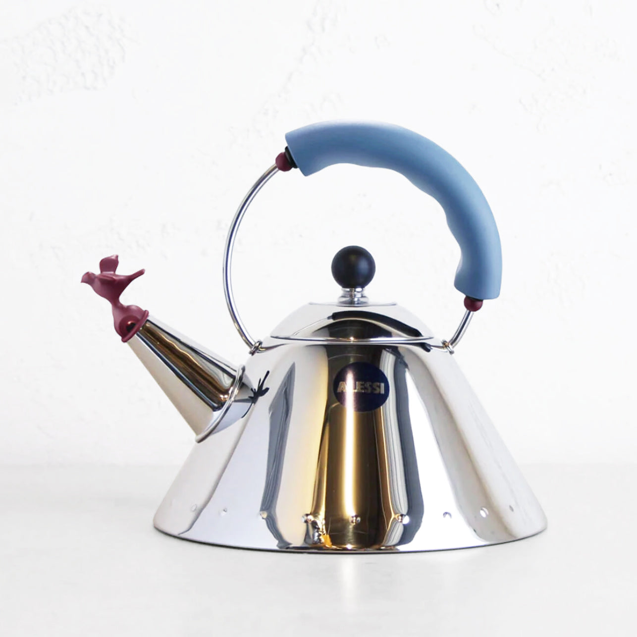 ALESSI  |  KETTLE 9093 WITH BIRD  |  BLUE HANDLE