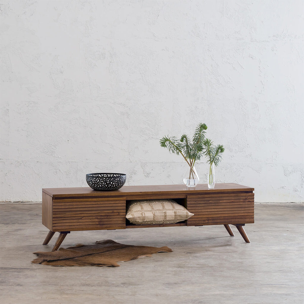 PRE ORDER | AMARA MID CENTURY TIMBER TV STAND  |  2 DOOR  |  150CM