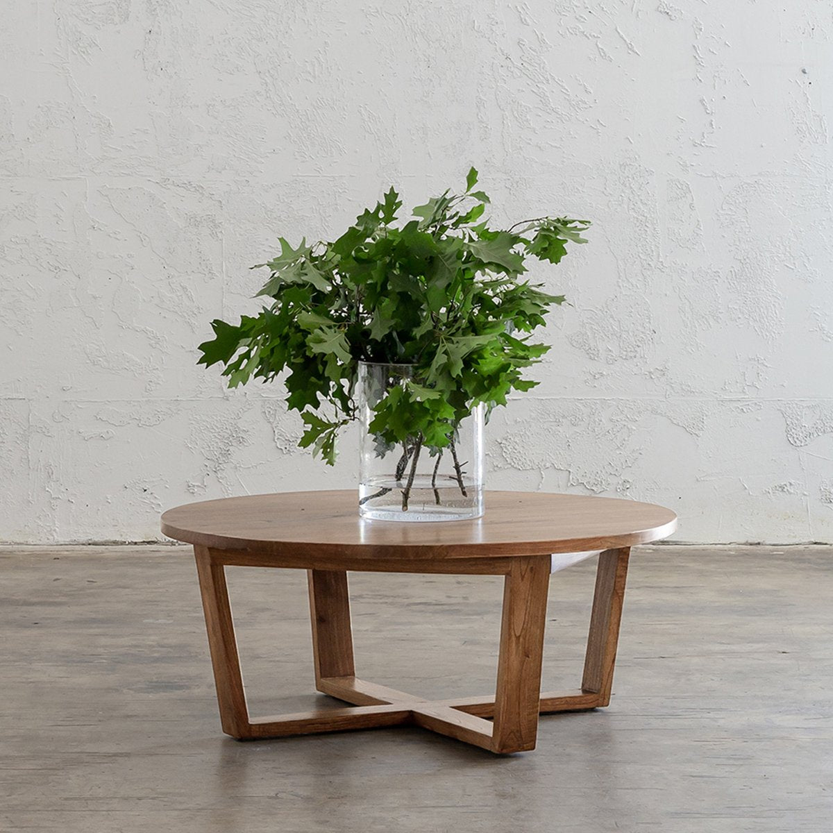 AMARA MID CENTURY TIMBER COFFEE TABLE  |  PLAIN TOP | ROUND